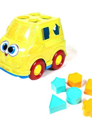 Автобус-сортер (желтый)