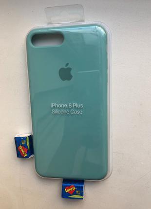Чехол Силиконовый Для IPhone/Айфон 7 Plus / 8 Plus мятный