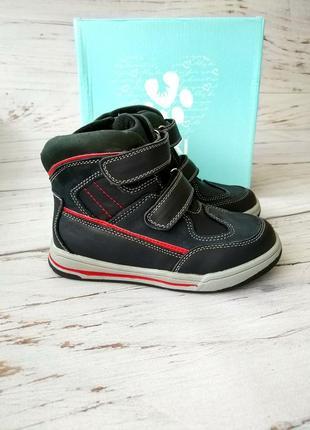 Кожаные ботинки для мальчиков bi&ki !!!последняя пара!!!