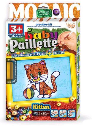 """Картина-мозаика из пайеток """"Baby Paillette: Котёнок"""""""