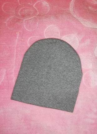 Трикотажная шапочка, шапка детская на 1-3 годика