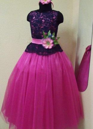 Красивое нарядное, праздничное платье для девочки р. 122-128, ...
