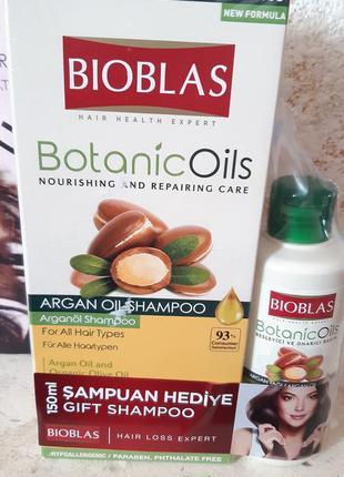 Шампунь від випадіння волося з аргановою олією bioblas юнайс т...