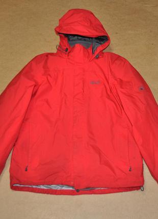 Jack wolfskin куртка 2в1 с флисом