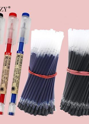 Гелеві ручки / гелевые ручки / комплект 1 ручка + 20 стержнів