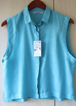 Голубая блуза pull&bear / s / oversize