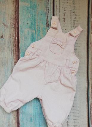 Вельветовый комбинезон в мелкий горошек для новорожденных, для...