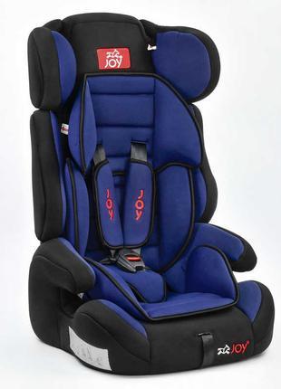 Автокресло универсальное Joy с бустером, 9-36 кг, черно-синее