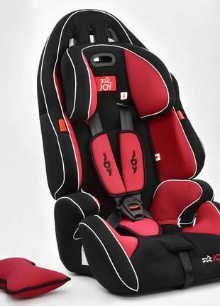 Автокресло универсальное Joy с бустером, 9-36 кг, черно-красное