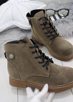 Новые коричневые женские весенние ботинки