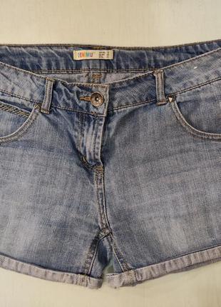 Denim co голубые короткие джинсовые шорты