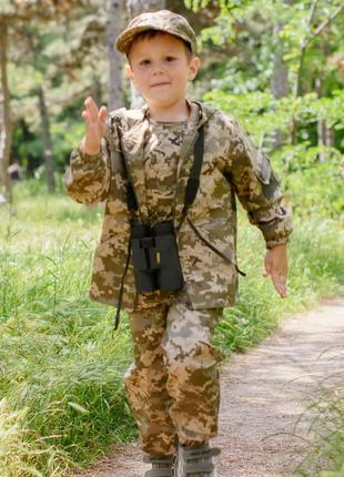 Костюм детский Лесоход для мальчиков камуфляж Пиксель код:15-237