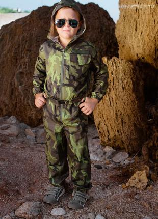 Комбинезон детский для мальчиков и девочек камуфляж код :18-108