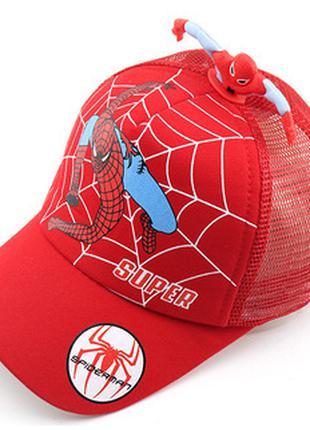 """Бейсболка """"Человек Паук"""", кепка, головные уборы для мальчика"""