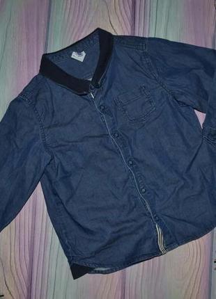Джинсовая  рубашка 1,5-2 года в сост новой