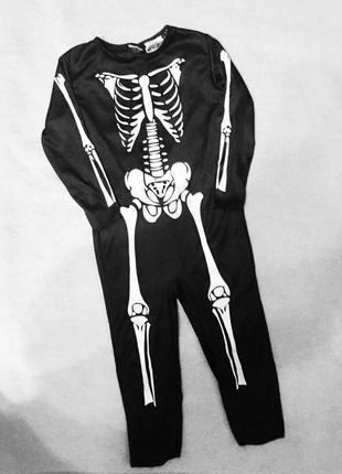 Карнавальный костюм комбинезон скелет  для мальчиков 4-6 лет h...