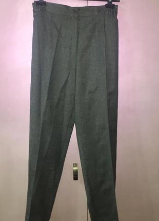 Классические серые шерстяные брюки большого размера