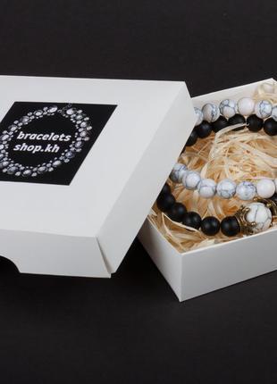 Парные браслеты   браслеты из натурального камня
