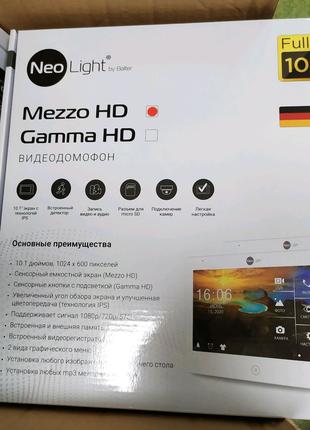 "Комплект HD видеодомофона NeoLight Mezzo HD 10"""