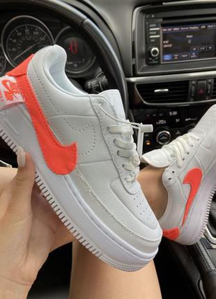 Кроссовки женские nike air force 1 low jester white orange