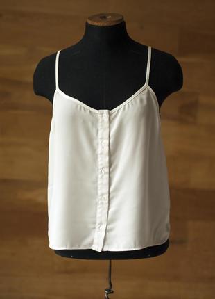 Супер стильный белый топ блуза на бретельках topshop, размер m