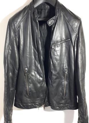 Drome италия мужская кожаная куртка