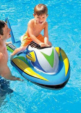 Детский надувной плотик для катания Intex «Скутер»