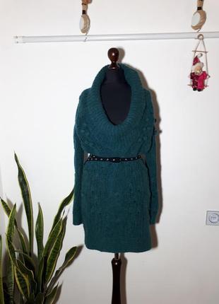 Платье, туника diesel с шерстью альпаки в крупную вязку