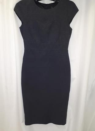 Плотное деловое полушерстяное платье zara