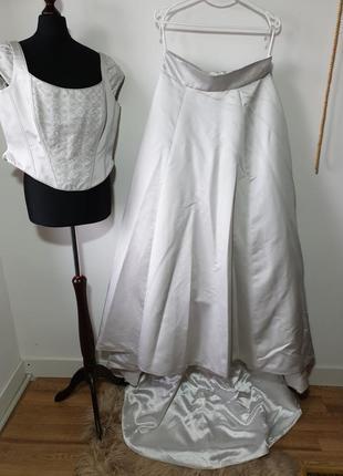 Торжественное платье со шлейфом, свадебное  augusta jones