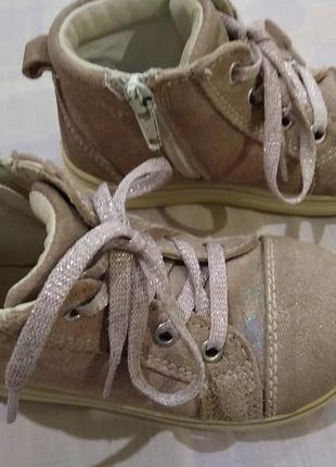 Легкие ботинки twisty замшевые