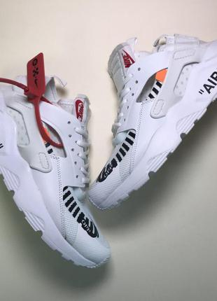 Кроссовки  nike air huarache off-white white