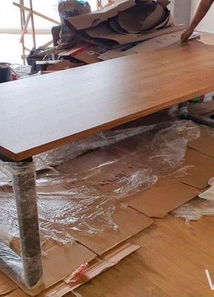 ХИТ ПРОДАЖ! Сочный стол лофт V-20, 2400*1000. Массив ясеня 40мм.