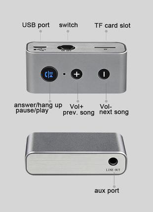 Адаптер Bluetooth аудио приемник Hi-Fi + TF BT710