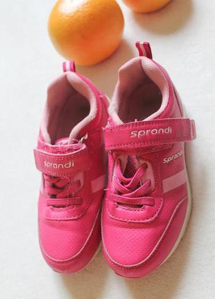 Детские кроссовки розовые на девочку, размер 30