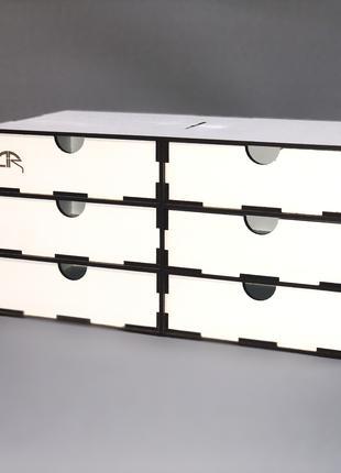 Органайзер для моделиста настольный на 6 ящиков