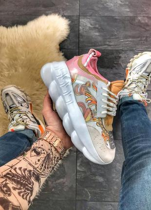 Versace chain reaction white pink (розовый)