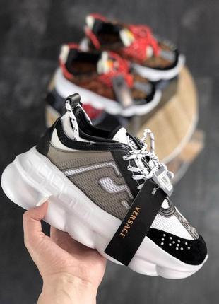 Versace chain reaction white black grey (белый)