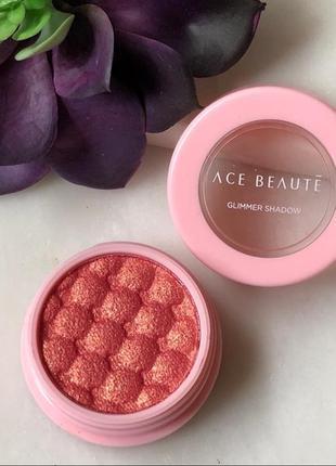Glimmer shadow ace beaute сияющие тени cotton candy