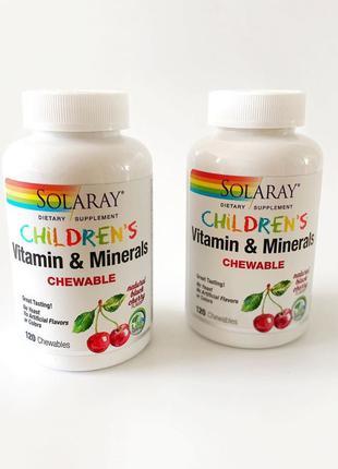 Витамины для детей мультивитаминны solaray минералы