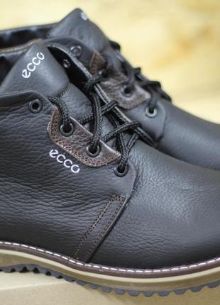 Мужские зимние ботинки (чоловічі черевики) из натуральной кожи...