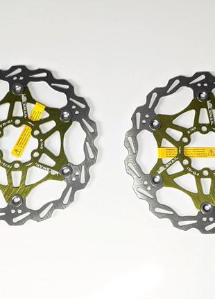 Ротора велосипедные Snail 160 салатовые пара