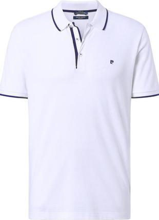 Мужская футболка - поло в белом цвете от pierre cardin (52114/...