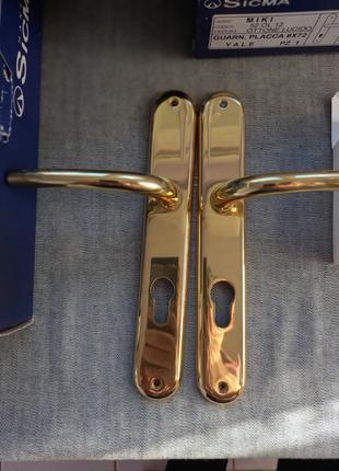 Комплект дверні ручки Sigma Miki (Italy) класичні латунь позолота