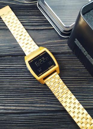 Оригинальные мужские наручные часы Skmei 1368 Gold
