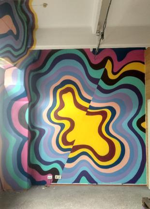 Художественное оформление и роспись помещений (муралы, граффити)