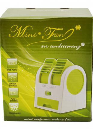 Мини-кондиционер вентилятор Mini Fan UKC HB-168 зеленый SO-4523