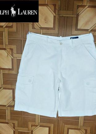 Женские белые шорты-бермуды от polo ralph lauren