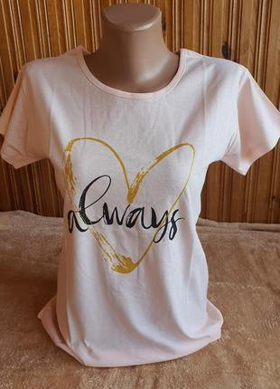 Распродажа, футболка с сердцем с и м пудра