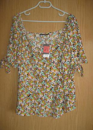 """Новая блузка с открытыми плечами """"george"""" р.50"""